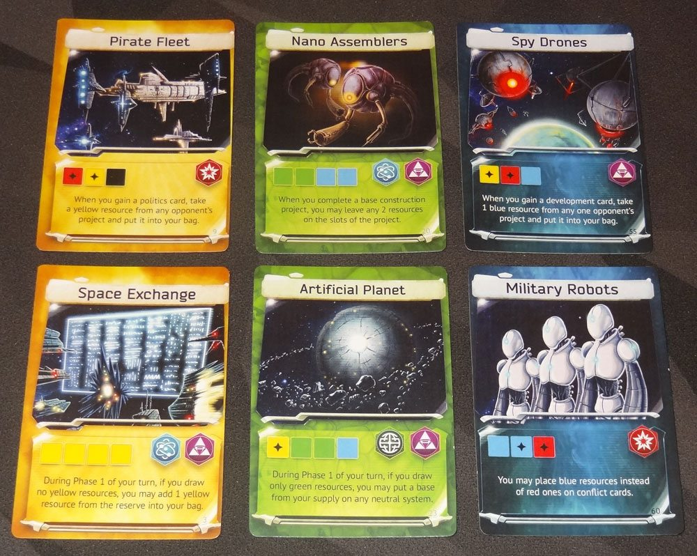 Master of the Galaxy development cards