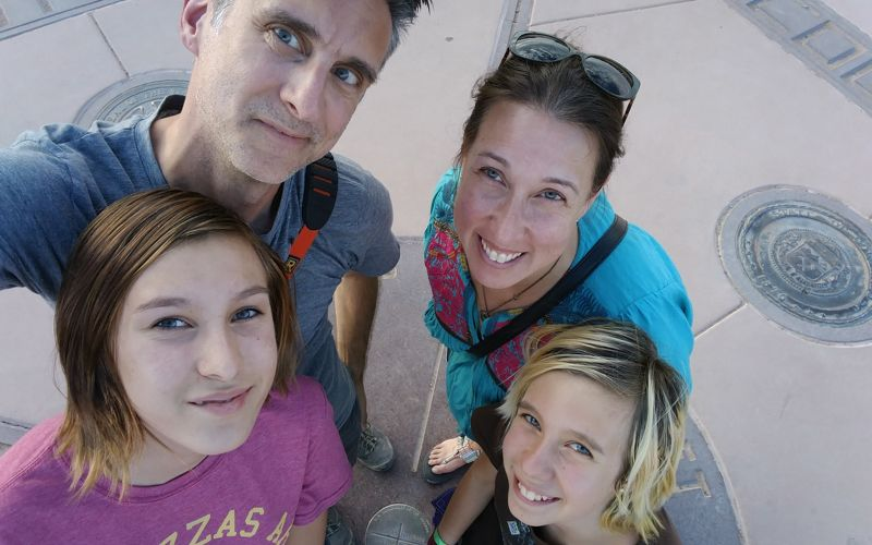 Our famly photo at Four Corners Monument