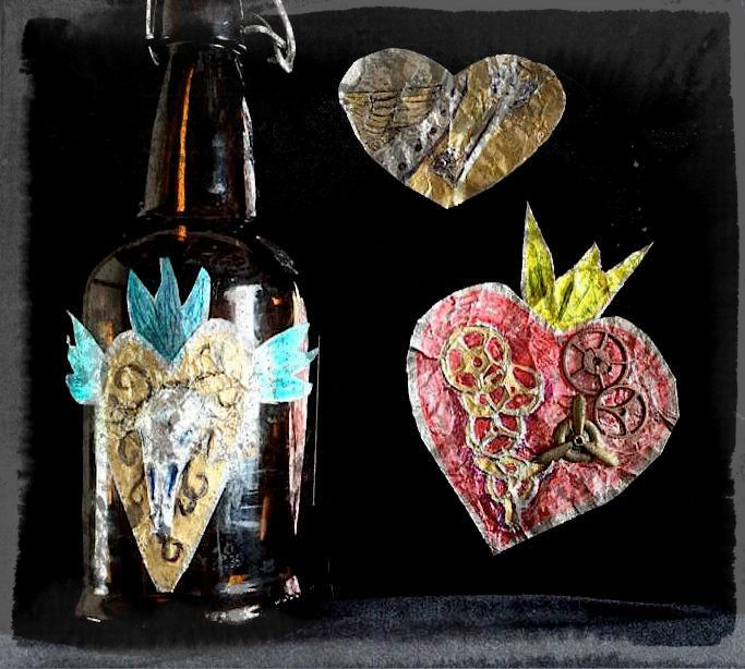Epic Use tin art to make wall art or embellish jars bottles or other smooth surfaces