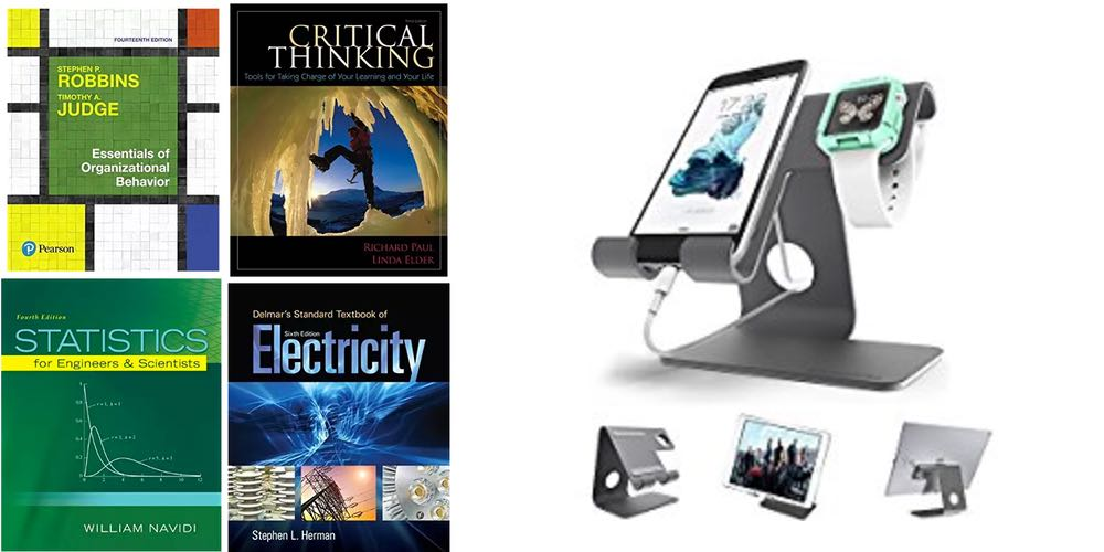 Geek Daily Deals college textbooks iphone apple watch stand