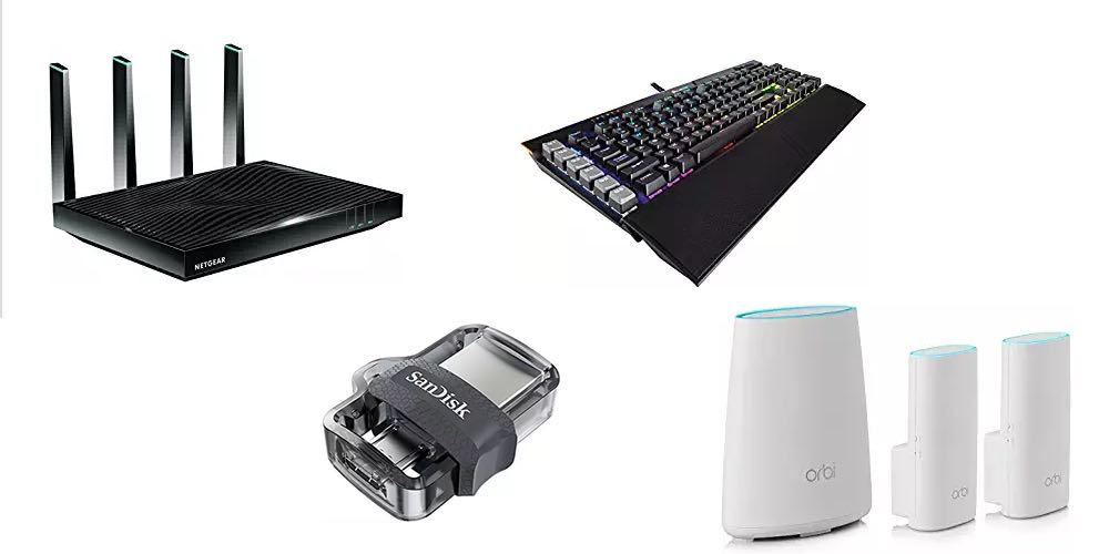 Geek Daily Deals Aug. 14, 2017: PC Parts and Accessories Sale – Routers, Keyboards, Storage, More