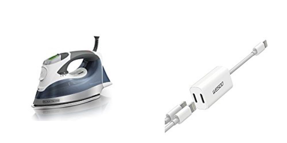 Geek Daily Deals Aug. 15, 2017: Black + Decker Digital Iron for $32; iPhone Lightning Audio Splitter