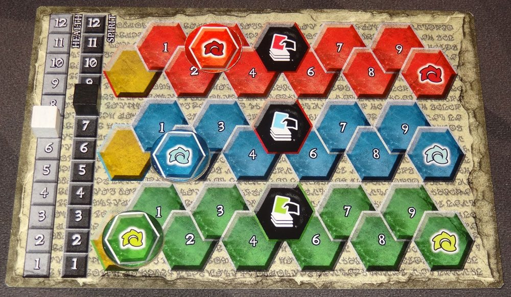 Champions of Hara player board