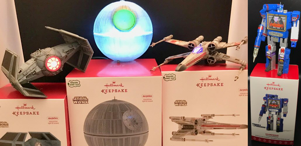 Hallmark's Star Wars Storyteller and Transformers Ornaments Review and Giveaway