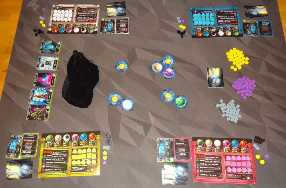 Horizons 4-player setup