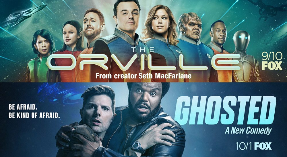 See FOX's 'The Orville,' 'Ghosted,' and 'The Gifted' in Theaters