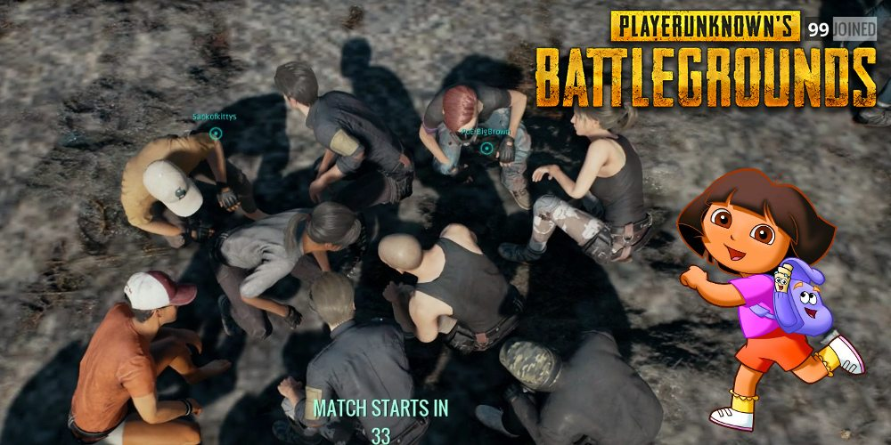 Dancing to 'Dora' in 'Playerunknown's Battlegrounds'