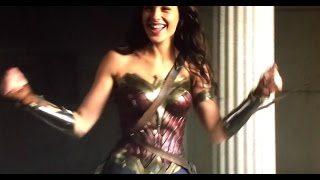 Wonder Woman on set