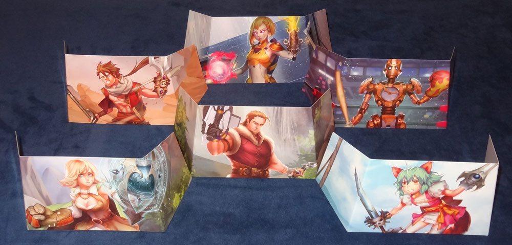 Custom Heroes player screens
