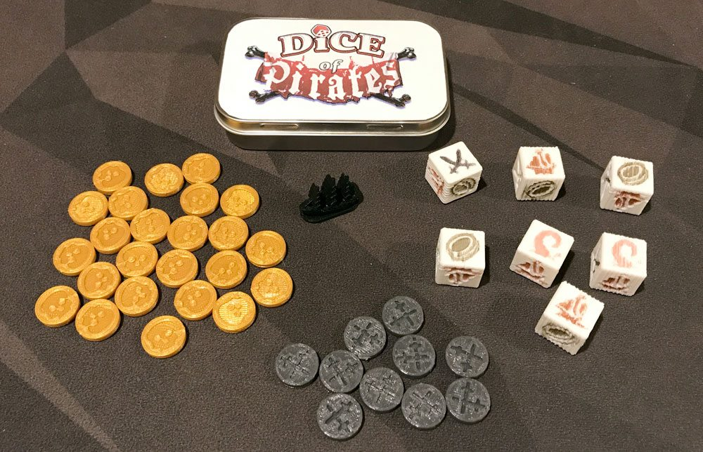 Dice of Pirates components