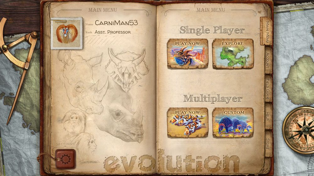 Evolution video game