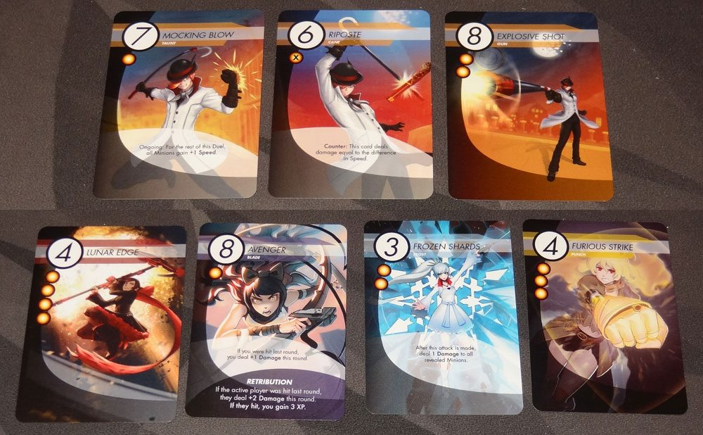 RWBY sample cards