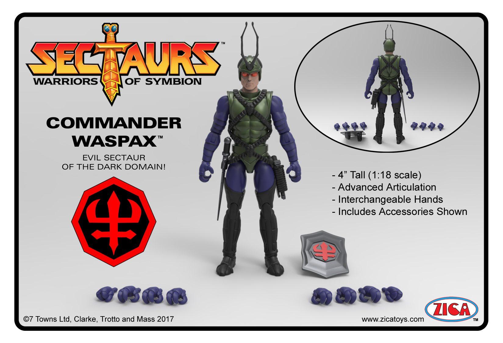 Kickstarter Alert: 'Sectaurs' Commander Waspax Reveal