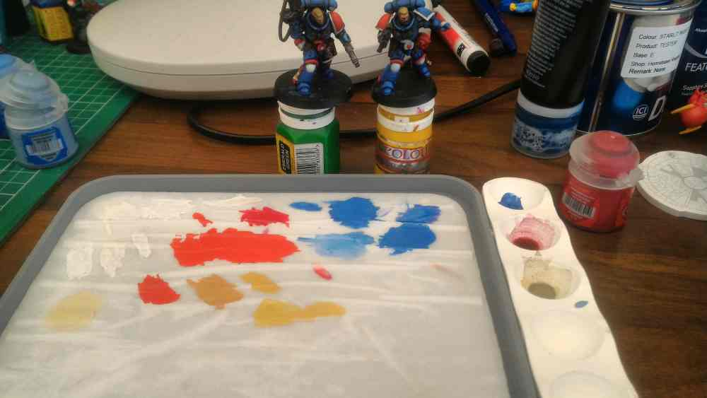 Wet Palette in use