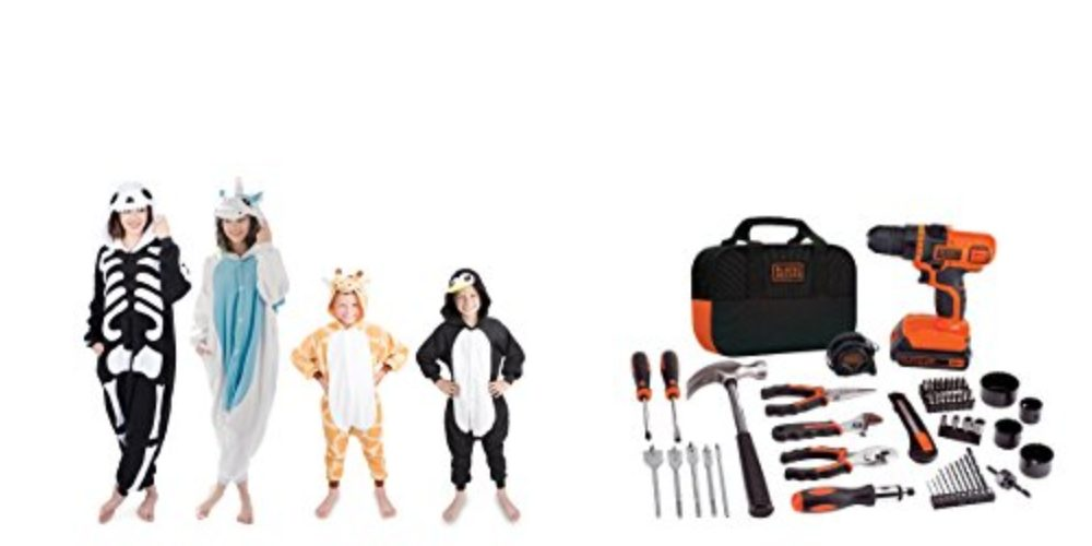 Geek Daily Deals 101117 animal onesies toolkit