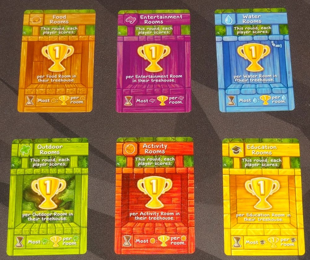Best Treehouse Ever scoring cards