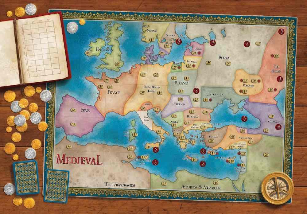 Medieval Kickstarter Map Board