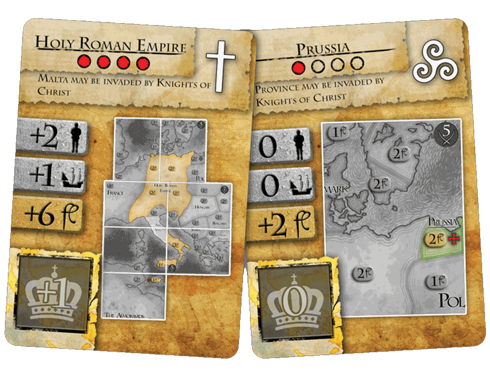 Medieval Boardgame Kickstarter: Power Cards