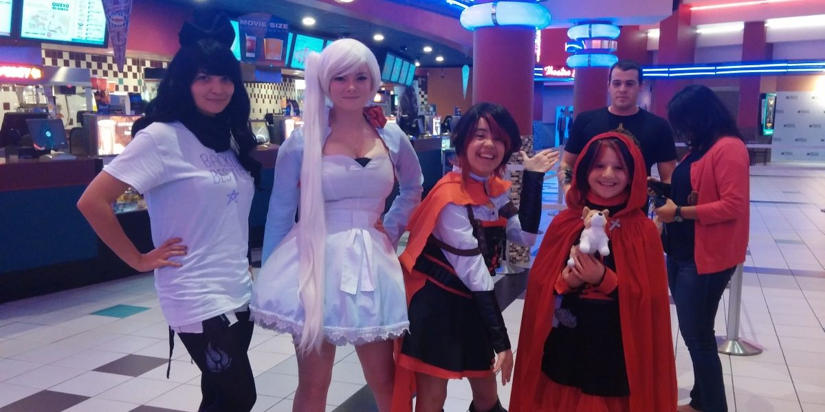 Cosplayers attending the 'RWBY' Volume 5 premiere in North Brunswick, NJ.