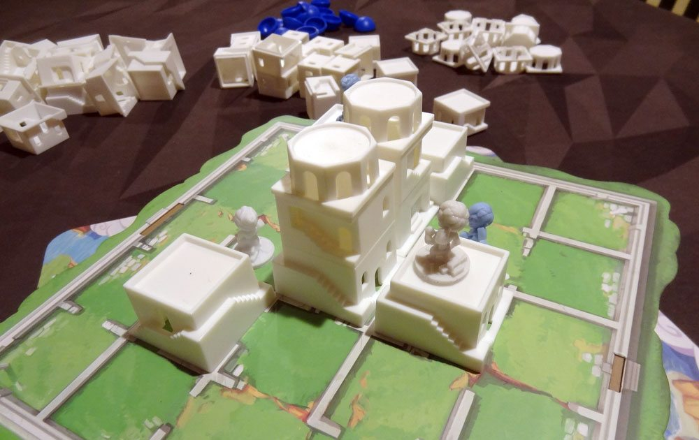 Santorini game in progress
