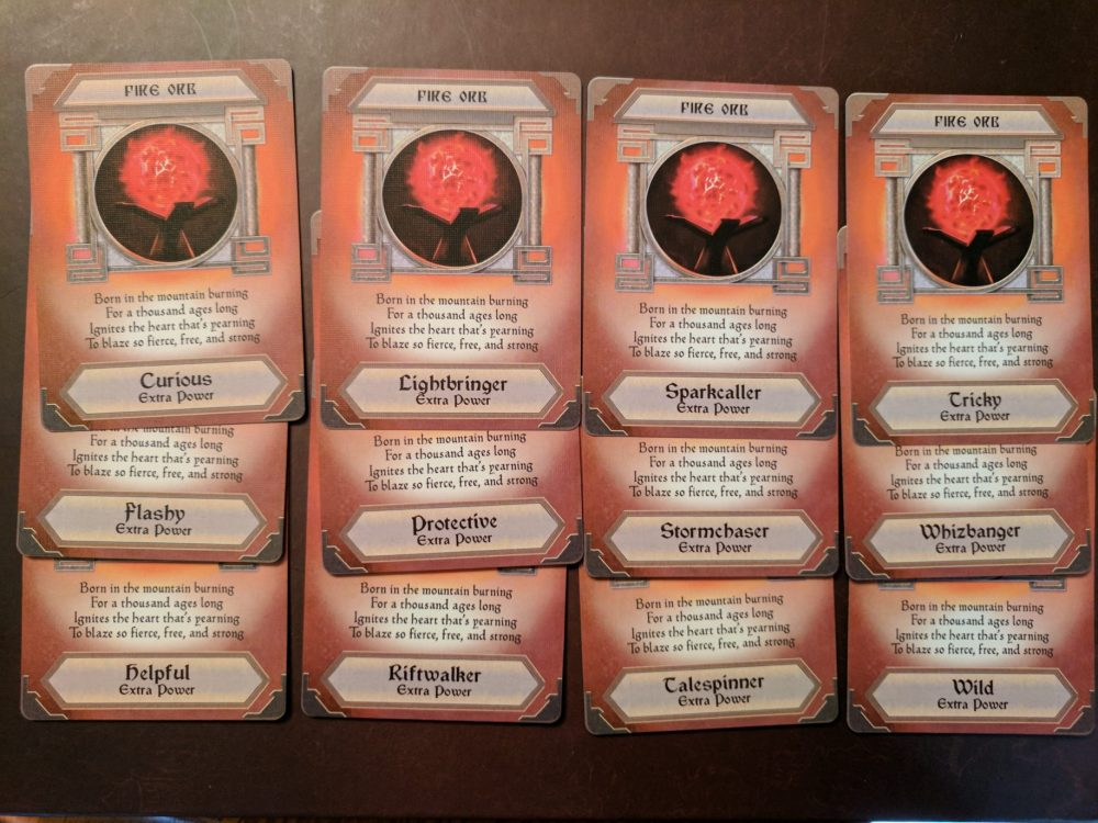 Storm Hollow Preludes Fire Power Orb Cards