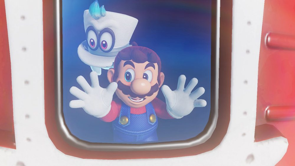 Super Mario Odyssey Mario and Cappy