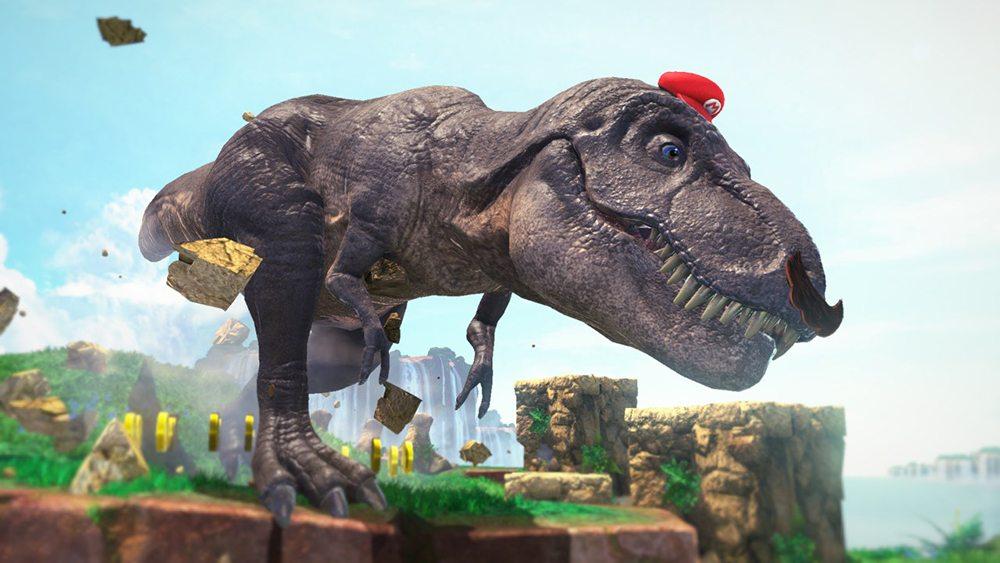 Super Mario Odyssey T-Rex
