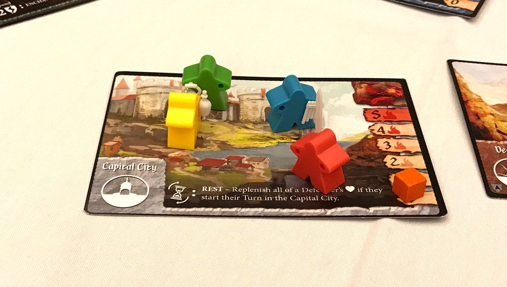 Tiny Epic Defenders capital city