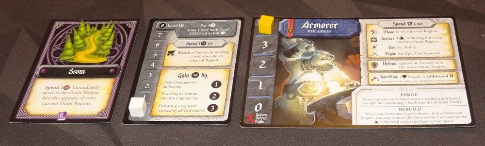Tiny Epic Defenders: The Dark War player cards