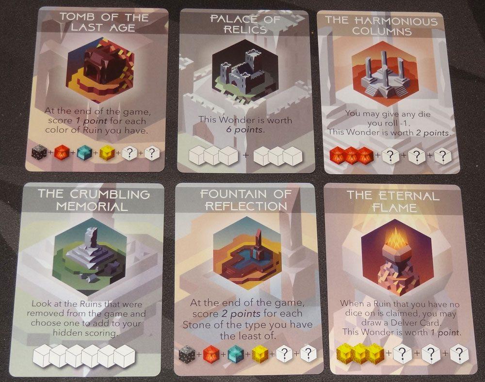 Unearth wonder cards