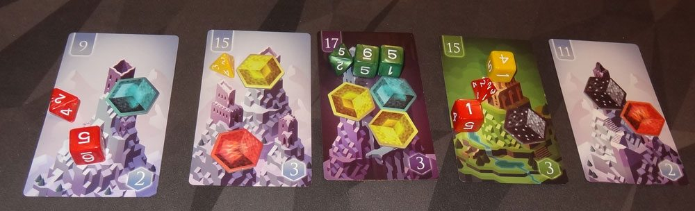 Unearth placing dice