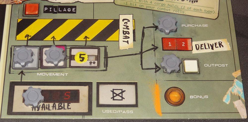Wasteland Express player board