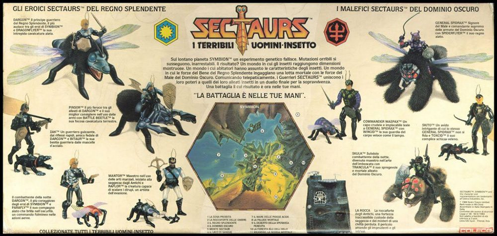 Sectaurs toys created by Tim Clarke