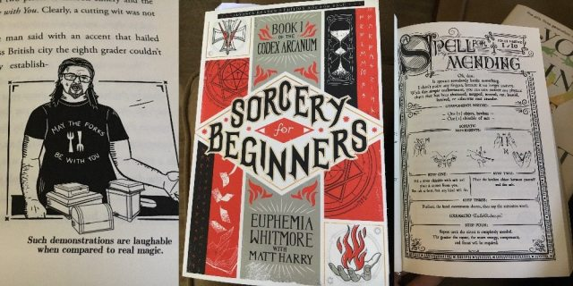 Images of book cover and illustrations