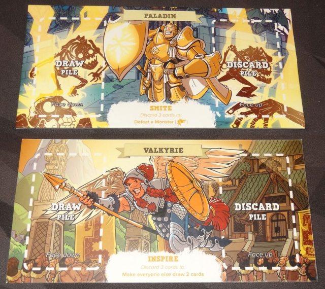 5-Minute Dungeon yellow hero board