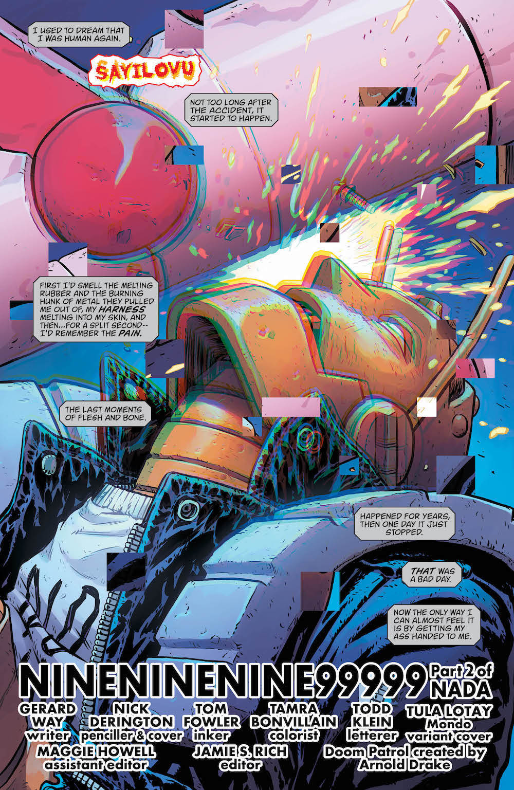 Robotman, Doom Patrol #9, 2017