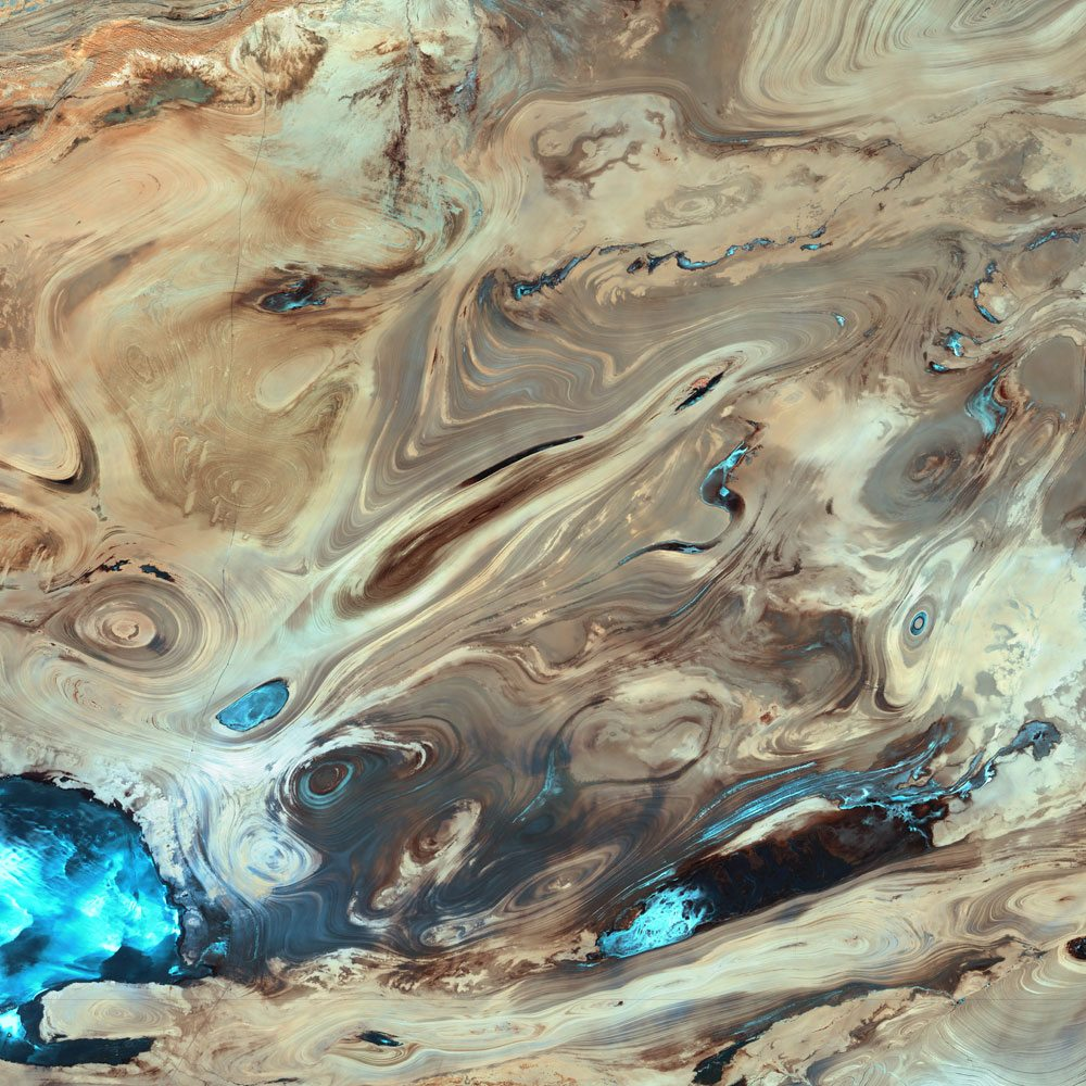 Earth salt desert from The Planets
