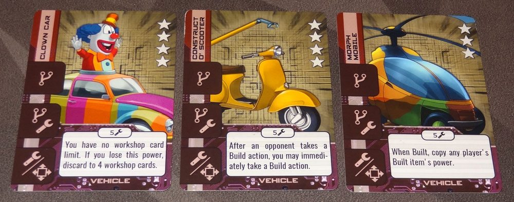 HeroTec vehicle cards