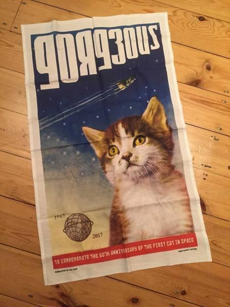 Space cat commemorative item Courtesy Matthew Serge Guy