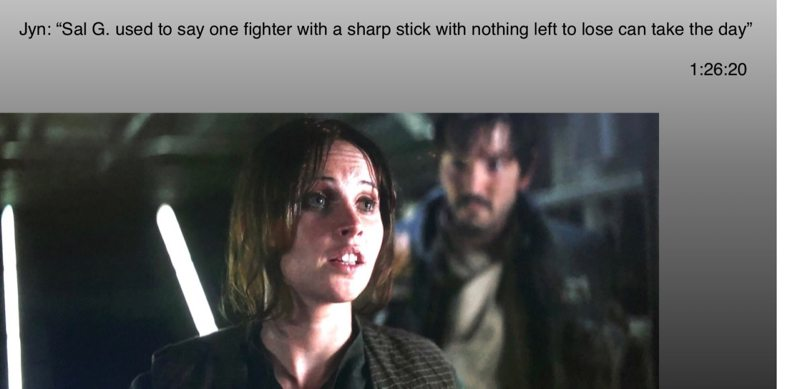 Rogue One Sharp Stick quote
