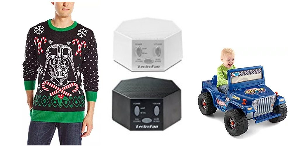 """Geek Daily Deals Dec. 5, 2017: Sale on """"Ugly"""" Holiday Sweaters, White Noise Sleep Machines, Ride-on Toys"""
