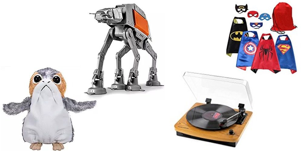 Geek Daily Deals 120917 star wars toys turntable superhero