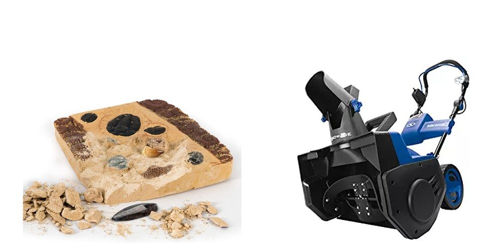Geek Daily Deals Dec. 16, 2017: Real Fossil Discovery Kit for STEM; Electric Snow Blower