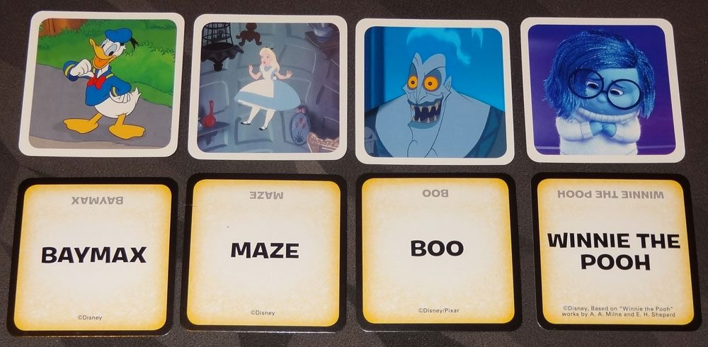 Codenames: Disney Family Edition treasure cards