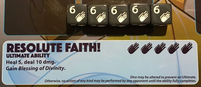 """Dice Throne """"Resolute Faith"""" ability"""