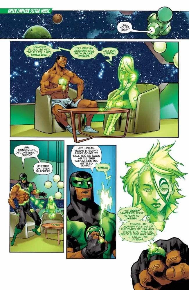 Green Lanterns #37, page 1, Simon Baz