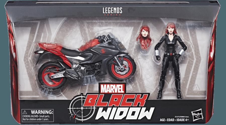 Marvel Legends Black Widow and Motorcycle Set Hasbro