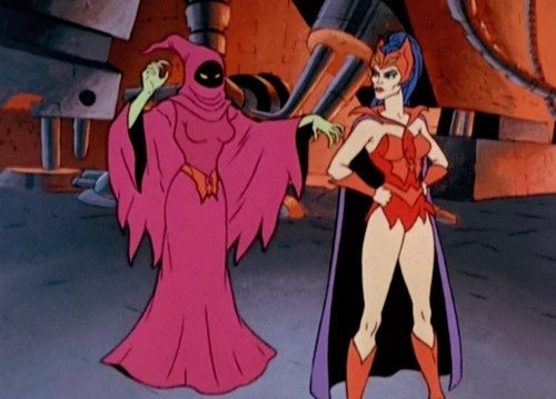 She-Ra villains in 'Of Shadows and Skulls' with Shadow Weaver and Cattra