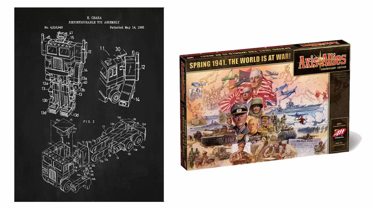 Geek Daily Deals 012718 toy patent prints axis and allies anniversary edition