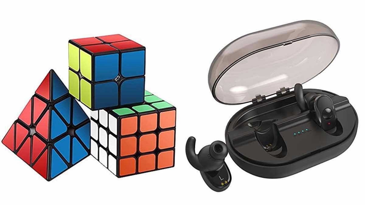 Geek Daily Deals 021118 speed cubes bluetooth earbuds
